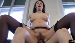 Trimmed Euro Cougar Riding Cock In Closeup